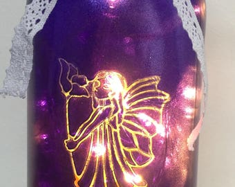 Fairy with Flower Jar light