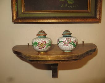 Vintage Antique Victorian Cloisonne Matching Salt & Pepper Shakers