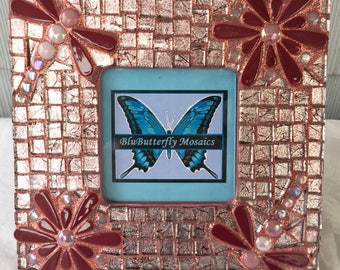 Dragonfly/Daisy Mosaic Picture Frame