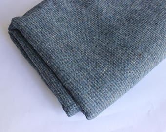 Blue/Gray small check wool mix
