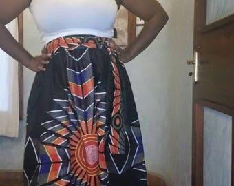 Custom Ankara Skirt/ Long/ Ankara print fabric / African Print/ one of a kind