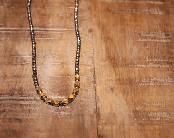 Pyrite and Gold Nugget Necklace
