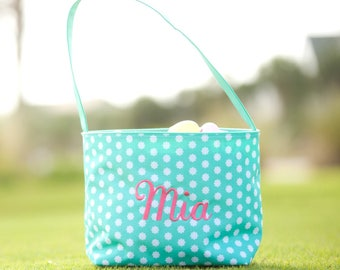 Monogram Easter Basket , Monogram Easter Bucket, Monogram Easter Tote