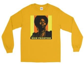 Nina Simone - High Priestess Of Soul Jazz Long Sleeve T-Shirt
