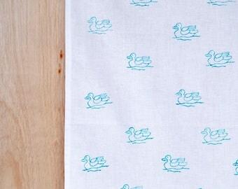 Blue Duck cotton tea towel