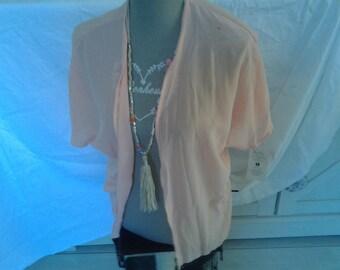 Vest color chiffon rose