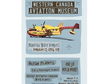 Western Canada Aviation Museum Winnipeg Poster
