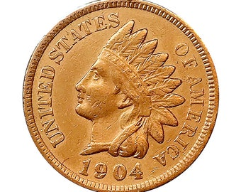 1904 Indian Head Cent - AU / BU - 3 1/2 Diamonds