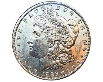 1886 P Morgan Silver Dollar - Gem BU / MS / UNC