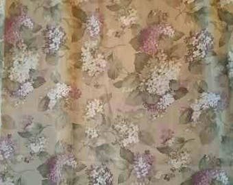 Purple  and white flower curtains 5'x8' pair of panels