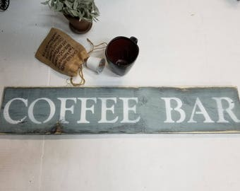 COFFEE BAR SIGN/but first coffee/Coffee lover gift/Kitchen signs/Coffee house sign/wall decor/handmade wood coffee bar sign/Cafe/Coffee Shop