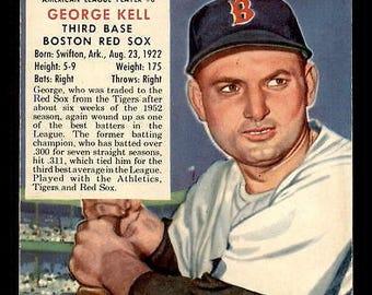 Vintage 1953 Red Man AL #8 George Kell VGEX