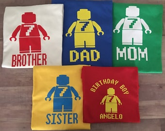 Family Birthday shirts