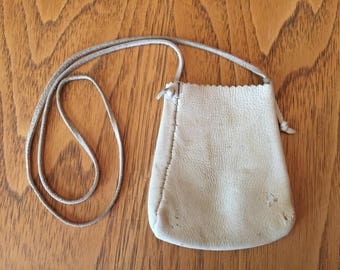The little buckskin pouch necklace