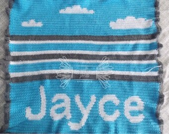In the Clouds Baby Blanket