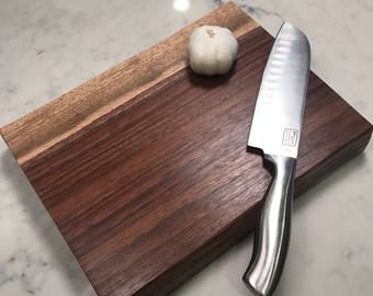 Thick Black Walnut Carving Board