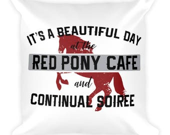 Walt Longmire Red Pony Cafe Pillow Square Pillow
