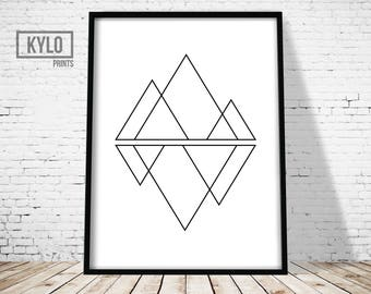 Geometry Print, Wall Art Print, Triangle Print, Geometry Art, Abstract Poster, Abstract Print, Modern Print, Minimalist Print, Triangle art