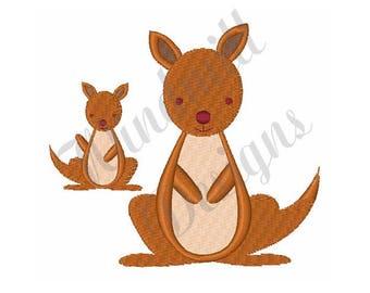 Kangaroos - Machine Embroidery Design