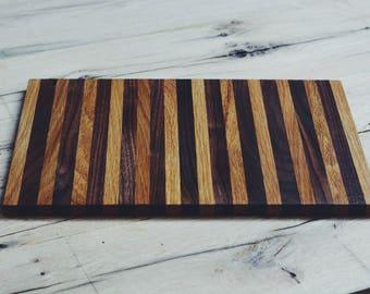"Walnut/Oak Cutting Board 14 1/2"" x 9 1/2"""