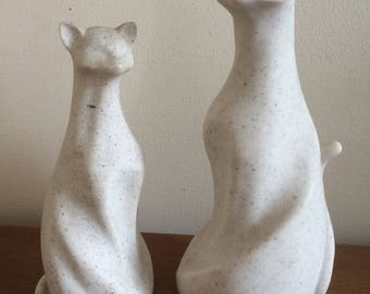 Stone Effect Cat statues