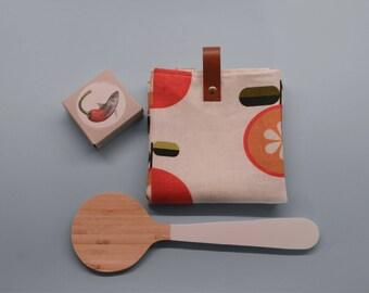 Teatowel oranges-eco-friendly towel-kitchen linens
