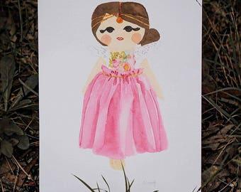 Penny Angel Pink - Limited Edition Fine Art Giclée Print
