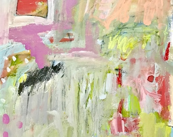 Original Abstract Painting on paper, modern art, home decor