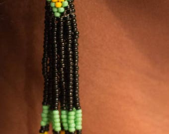 Multicolored beads earrings