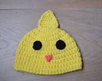 Baby chick hat - Crochet chicken hat - Newborn baby hat- Easter hat - Easter outfit baby - photo prop - animal hat - baby shower spring