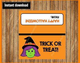 Witch Halloween Bag Toppers - Halloween Bag Labels - Halloween Treat Bags - Halloween Treat Tags