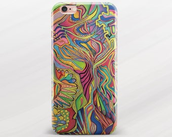 Psychedelic iPhone Case iPhone 6 Cover iPhone 6s Case iPhone 6 Plus Case Samsung Galaxy S5 Tumblr Case iPhone 5 Case iPhone SE Cover