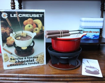The Crucible chocolate fondue set
