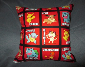 "Nintendo Pokemon Pikachu (Many Options to choose from) 16"" x 16"" Decorative Throw Pillow (with Insert)"
