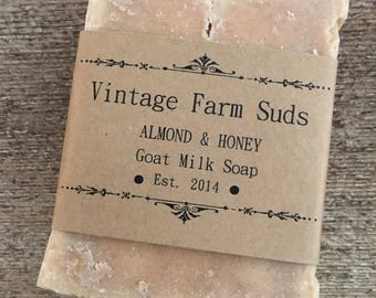 Almond & Honey Goat Milk Soap