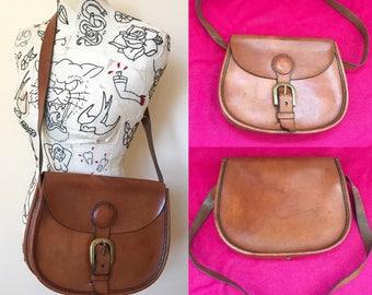 Vintage Tan Leather Satchel