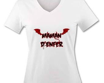 V neck women T-shirt - Mother of hell