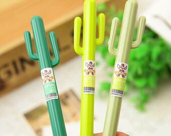 Cactus-shaped gel pen