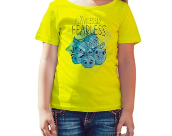 Angry Birds Team Girls Graphic Fearless Official Kid's T-Shirt (Yellow)