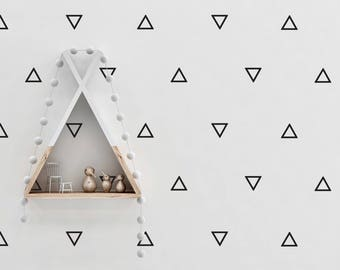 Nursery Wall Decals Triangle Stickers, Wall Stickers, Vinyl Wall Decal Stickers, Triangle wall decals, Kids Room Peel Stick,