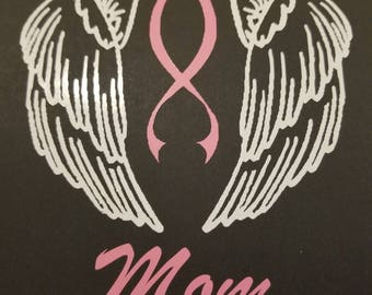 Guardian Angel vinyl decal with names