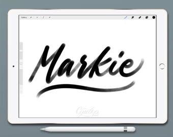 Procreate Brush, Markie ,Procreate Brush, brush lettering, Procreate Brushes, Procreate Brush, Calligraphy, Single Brush