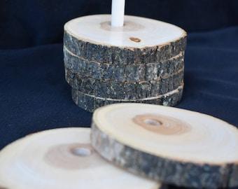 Log Slice Coasters