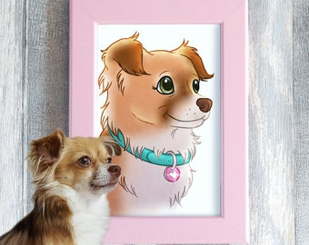 Cartoonize Your Pet - A4 Custom pet portrait