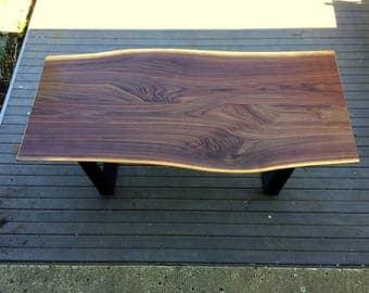 Live Edge Black Walnut Desk/Banquette Table