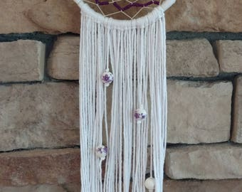 Violet Flower Dreamcatcher