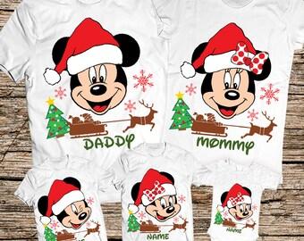 Disney Christmas family shirts, Disney Christmas shirts, disney christmas tshirt, Matching Disney Family Christmas shirts, Christmas shirts