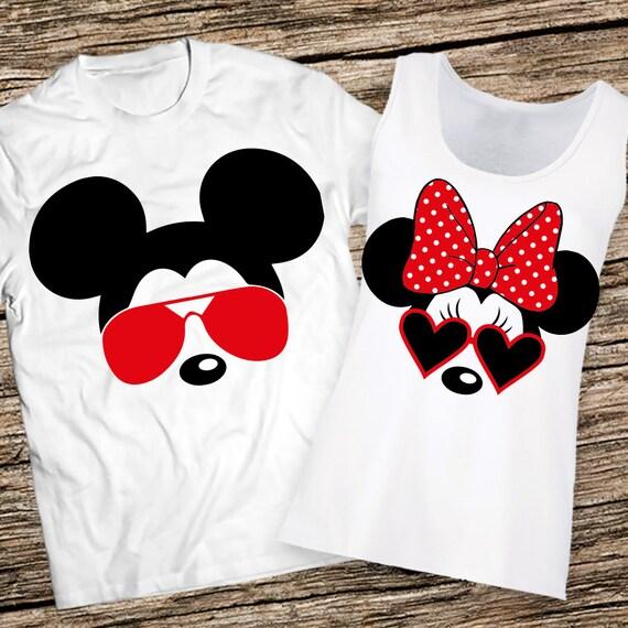 Cartoon Couple Design Tees Shirts Couple Tee Tops T Shirt: Disney Couples Shirts Disney Couple Shirts Mickey And Minnie