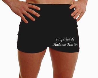 Personnalisé Mens Boxer Shorts Sous-vêtements TOUT MESSAGE Cadeau de mariage Marié Marié Meilleur homme Présent 2ème anniversaire - jambe