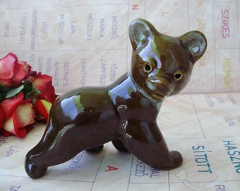 Rare vintage Hungarian  ceramic animal figurine,bear